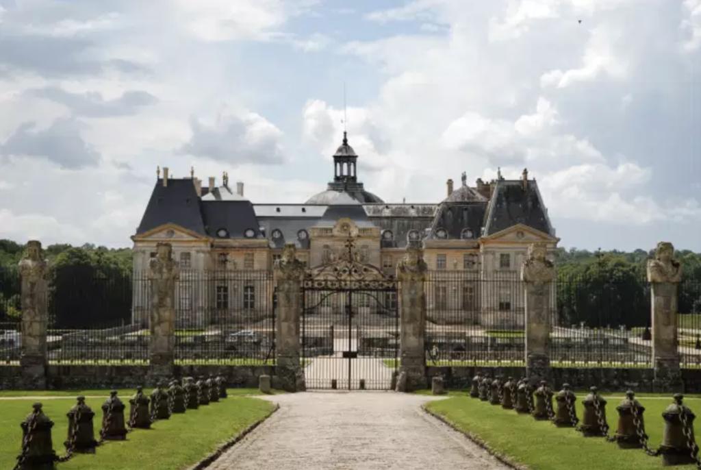 château Vaux vicomte vu de face