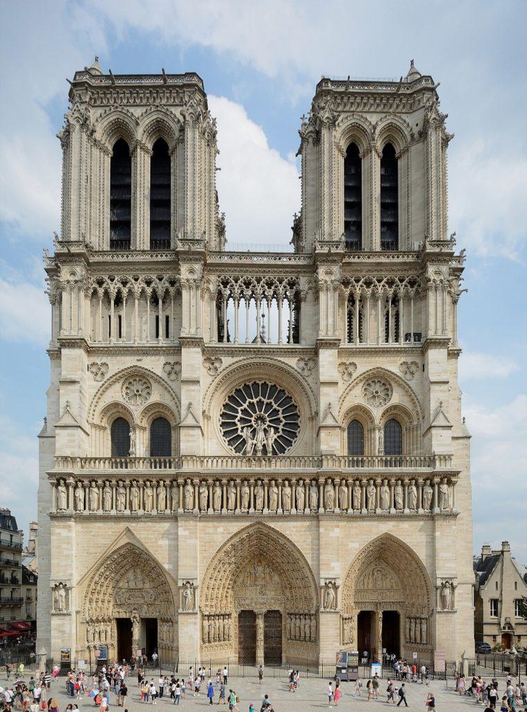 Cathédrale  Notre dame de Paris vu de face