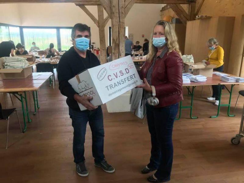 Distribution des masques réutilisables mis à disposition par le Conseil départemental de Seine et Marne