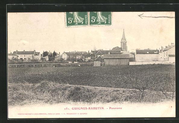 CPA Guignes-Rabutin, vue générale des Ortes