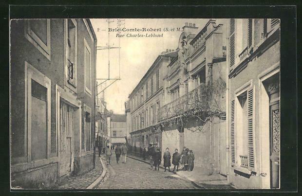 CPA Brie-Comte-Robert, Rue Charles-Leblond • EUR 10,00